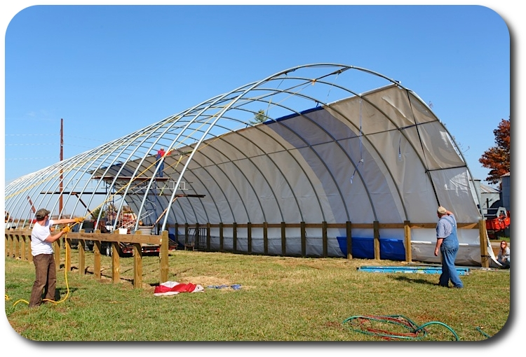 Citaten Hoop House : The construction project crooked gap farm hoop house